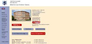 Bibliothek des ärztlichen Vereins Screenshot